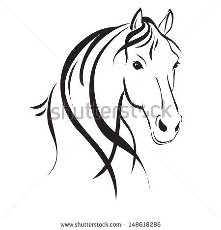Horse Head clip art Free vector in Open office drawing svg ( .svg ) format format for free download 89.68KB | Arty parties | Pinterest | Drawings, ...