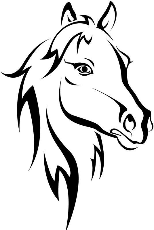 97 horse head clip art clipartlook