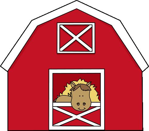 Horse in a Barn Clip Art - Horse in a Barn Image