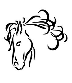 Horse Line Drawings Clip Art  - Line Drawing Clip Art