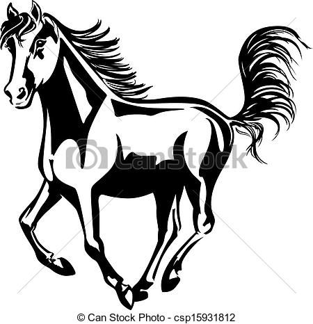 Horse Line Drawings Clip Art | Mustang Horse Clip Art | WOOD BURNING DESIGNS | Pinterest | Mustang horses, Clipart black and white and Clip art
