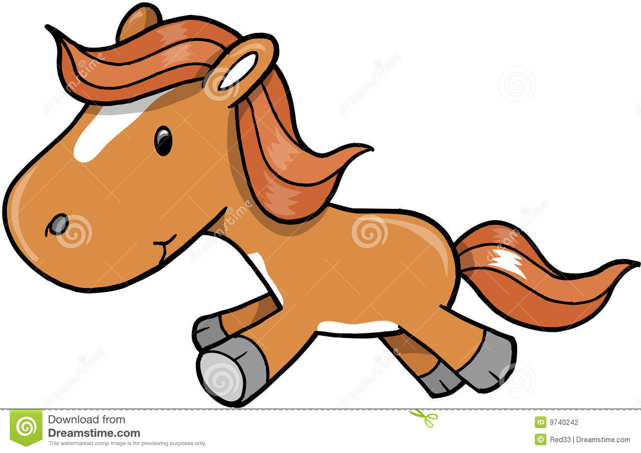 Horse Pony Vector Illustration Stock Photography