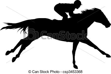 ... Horse racing - Abstract vector illustration of horce and.