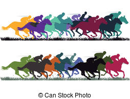 Horse Racing Vector Illustrationby ...