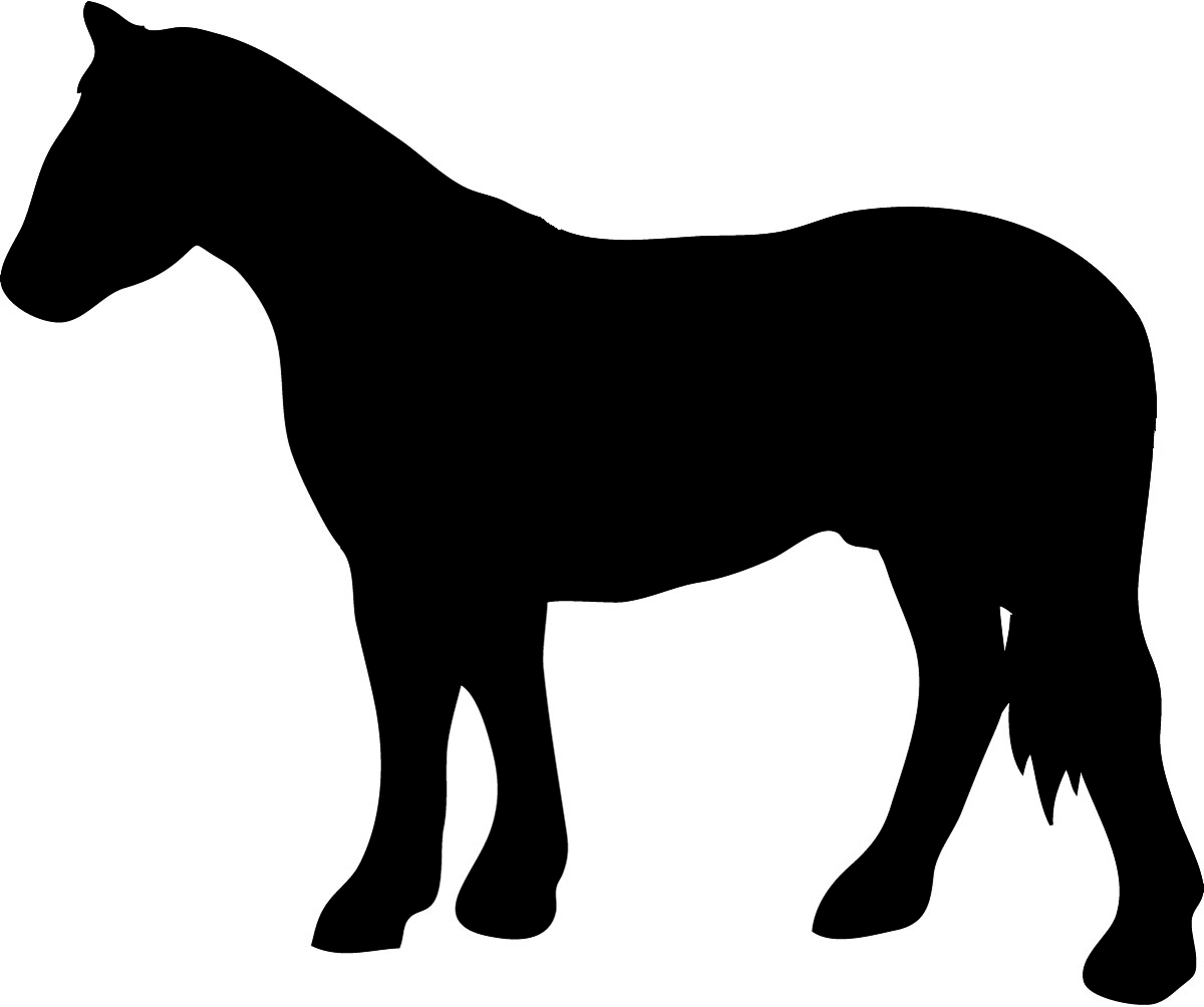horse with rider silhouette u0026middot; black silhouette of standing horse