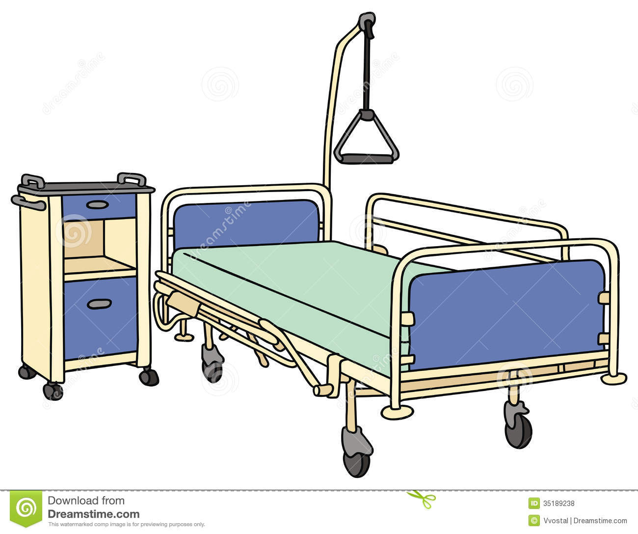 Exceptionnel Hospital Bed Clip Art   Hospital Bed Clipart