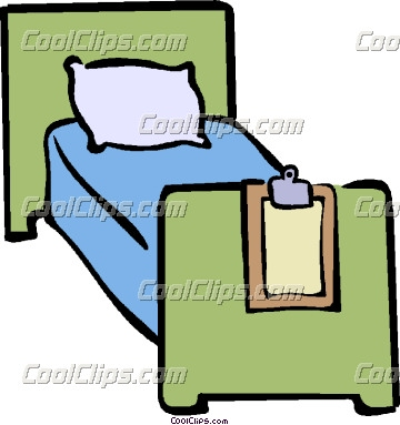 Hospital Clipart Hospital Bed   Hospital Bed Clipart