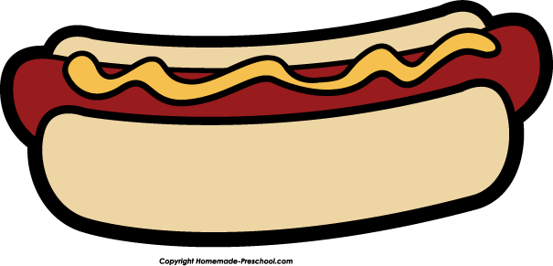 Hot Dog Clipart Black And White-hot dog clipart black and white-5