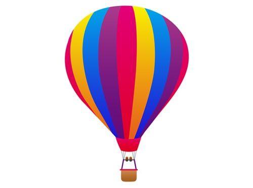 Hot Air Balloon Clip Art | Hot air balloon ClipArt Icon free vector