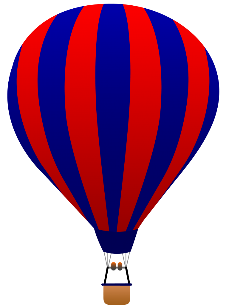 Hot Air Balloon Clipart Black .