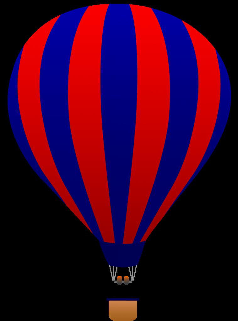 Hot Air Balloon Clipart Black .