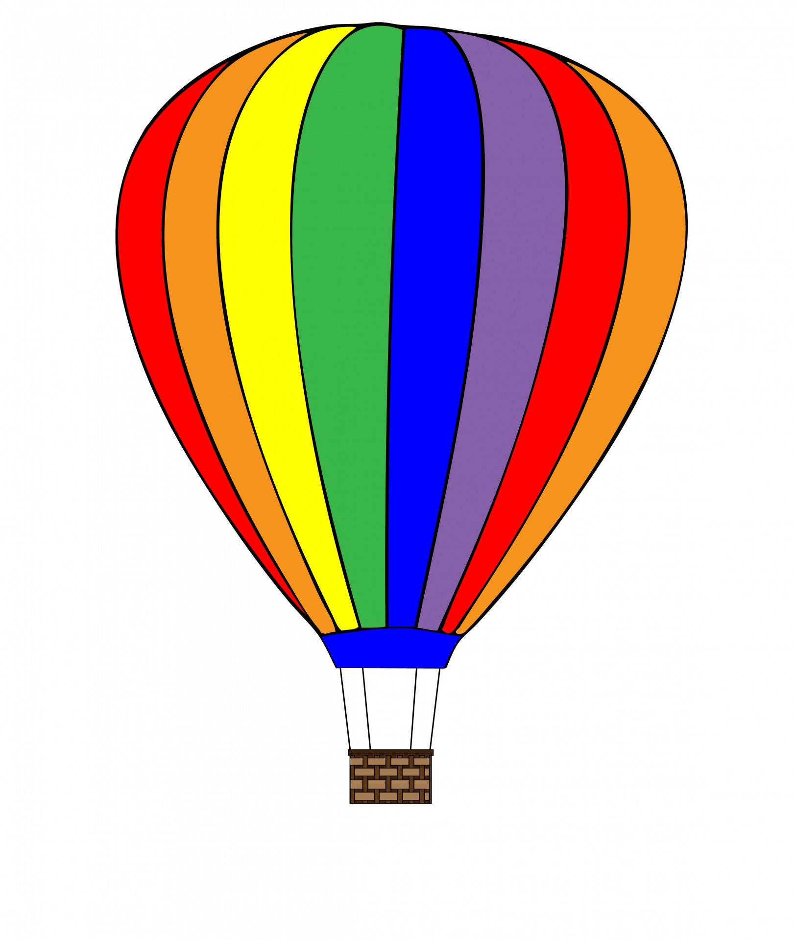 Hot Air Balloon Clipart Black