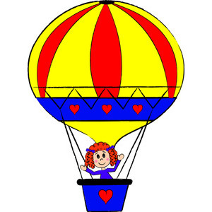 Hot Air Balloon Clipart Image .
