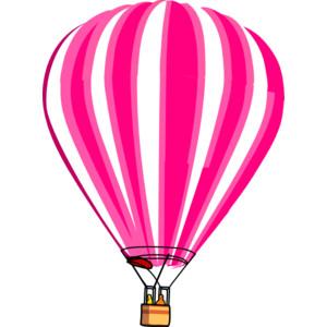 Hot Air Balloon Pink Clip Art-Hot Air Balloon Pink clip art-16
