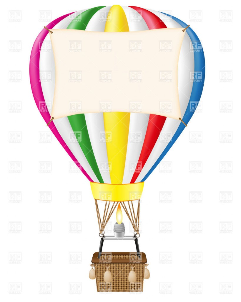 Hot Air Balloon With Blank Free Clipart -Hot Air Balloon With Blank Free Clipart Images-17