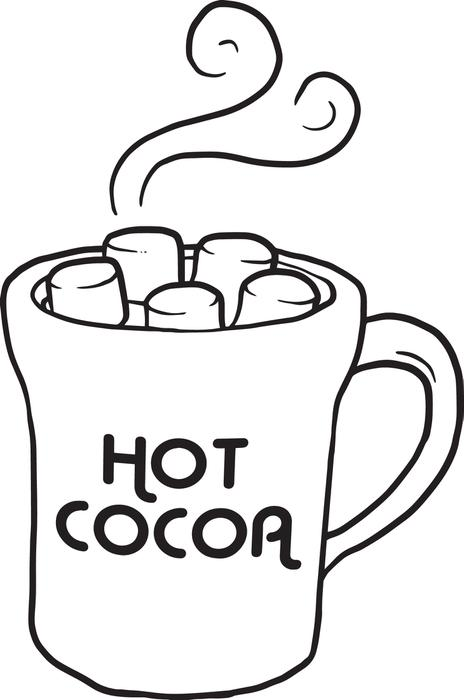 Hot chocolate clipart black and white - ClipartFest
