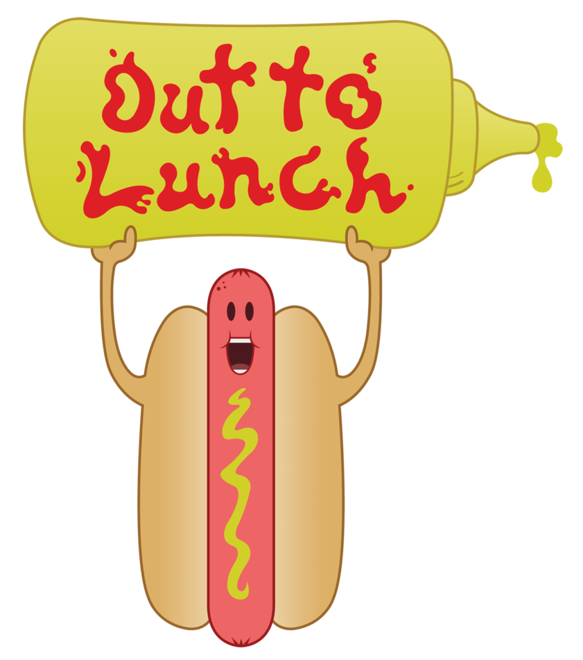 Hot Dog Out To Lunch Clipart