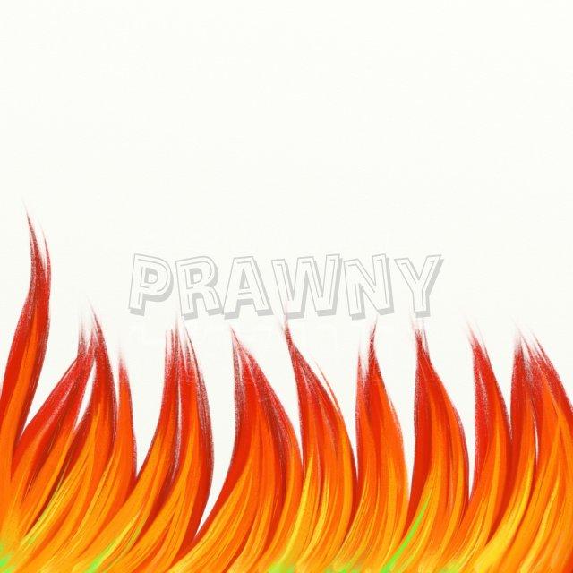 Hot Flames of Fire Prawny Border Clip Art