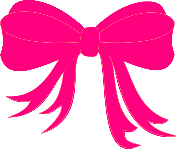 Hot Pink Bow Clip Art At Clker Com Vector Clip Art Online Royalty