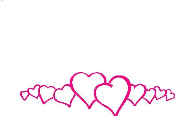 Hot Pink Heart Border Clip Art At Clker -Hot Pink Heart Border Clip Art At Clker Com Vector Clip Art Online-8