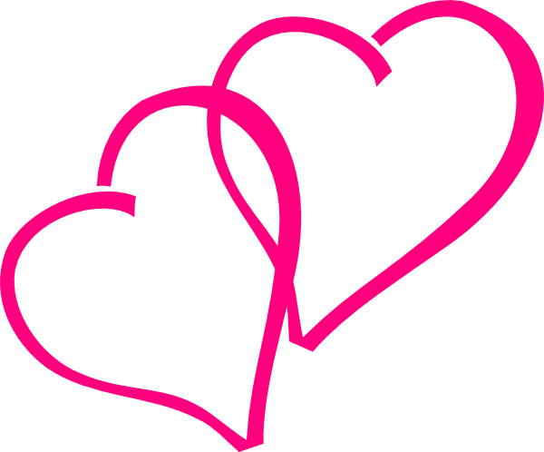 Hot Pink Hearts Clip Art At C - Pink Heart Clipart