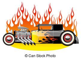 ... Hot rod - A vector illustration of a vintage hot rod.