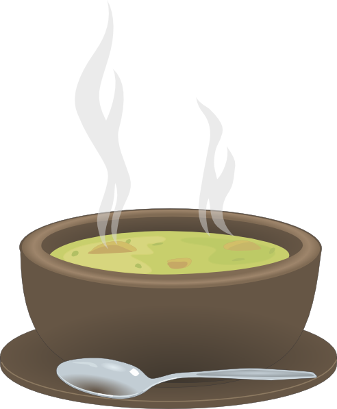 Hot Steaming Bowl Of Soup Clip Art At Clker Com Vector Clip Art