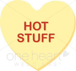 Hot Stuff Conversation Candy Heart Clipart