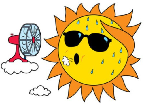 Hot Summer Day Clip Art - Hot Weather Clip Art