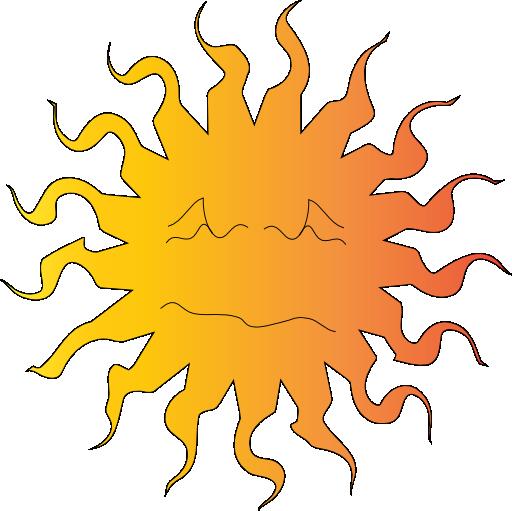 Hot Sun Clip Art ...-Hot Sun Clip Art ...-6