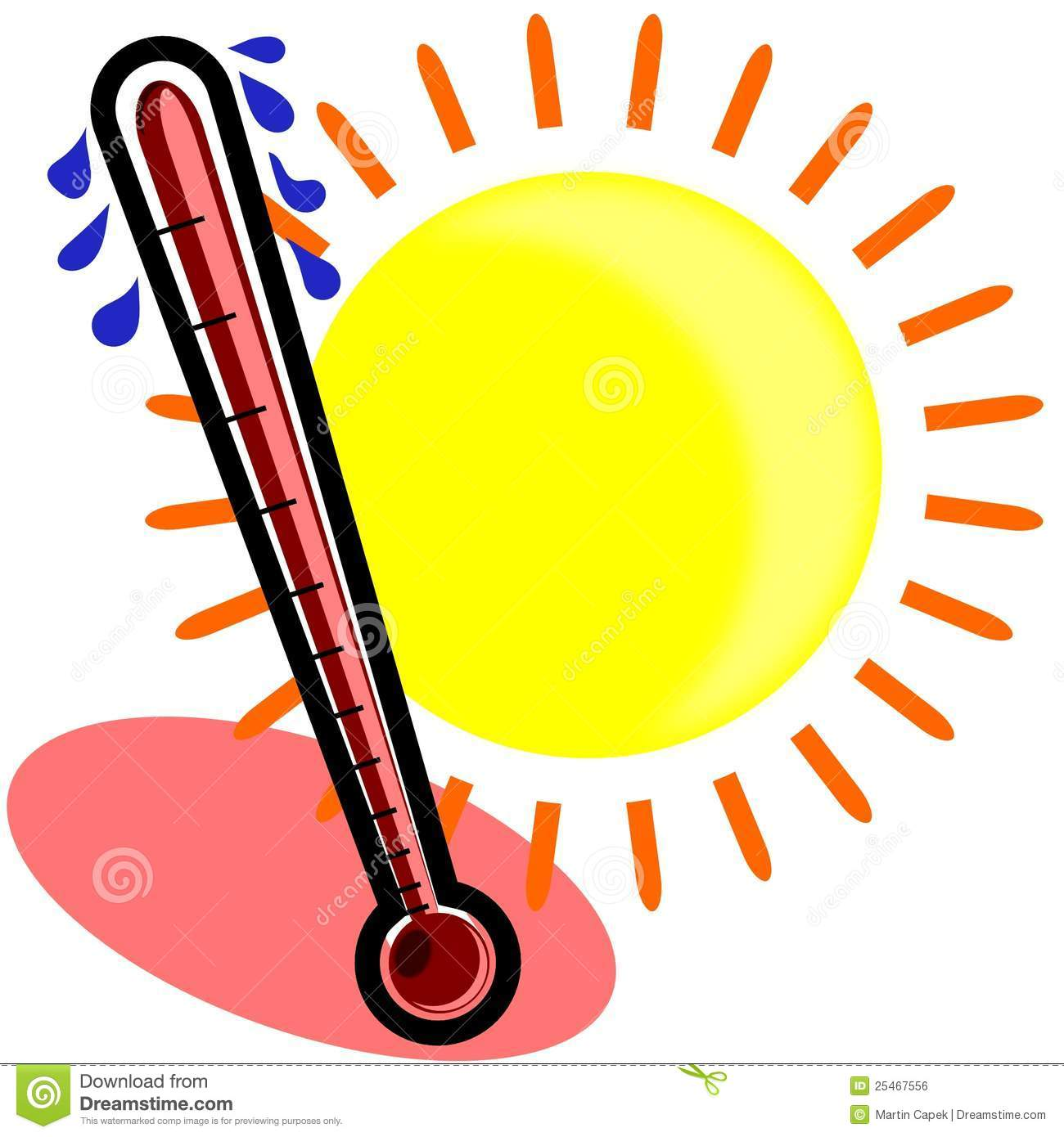 Hot temperature clipart - .