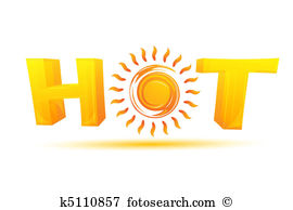 hot text with sun
