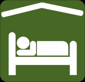 Hotel Motel Sleeping Accomodation Clip Art - Green/white Clip Art ..