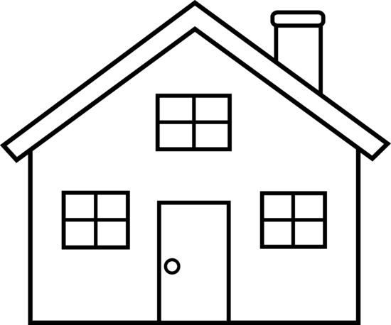 house clipart black and white - Clip Art Of A House