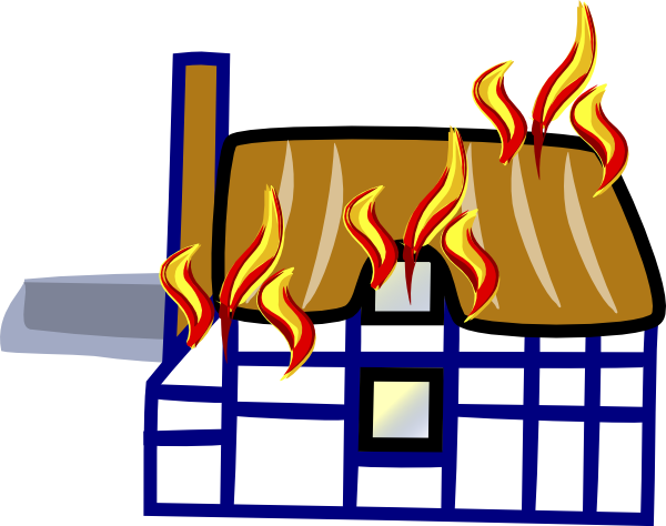 House Fire Clipart-house fire clipart-7