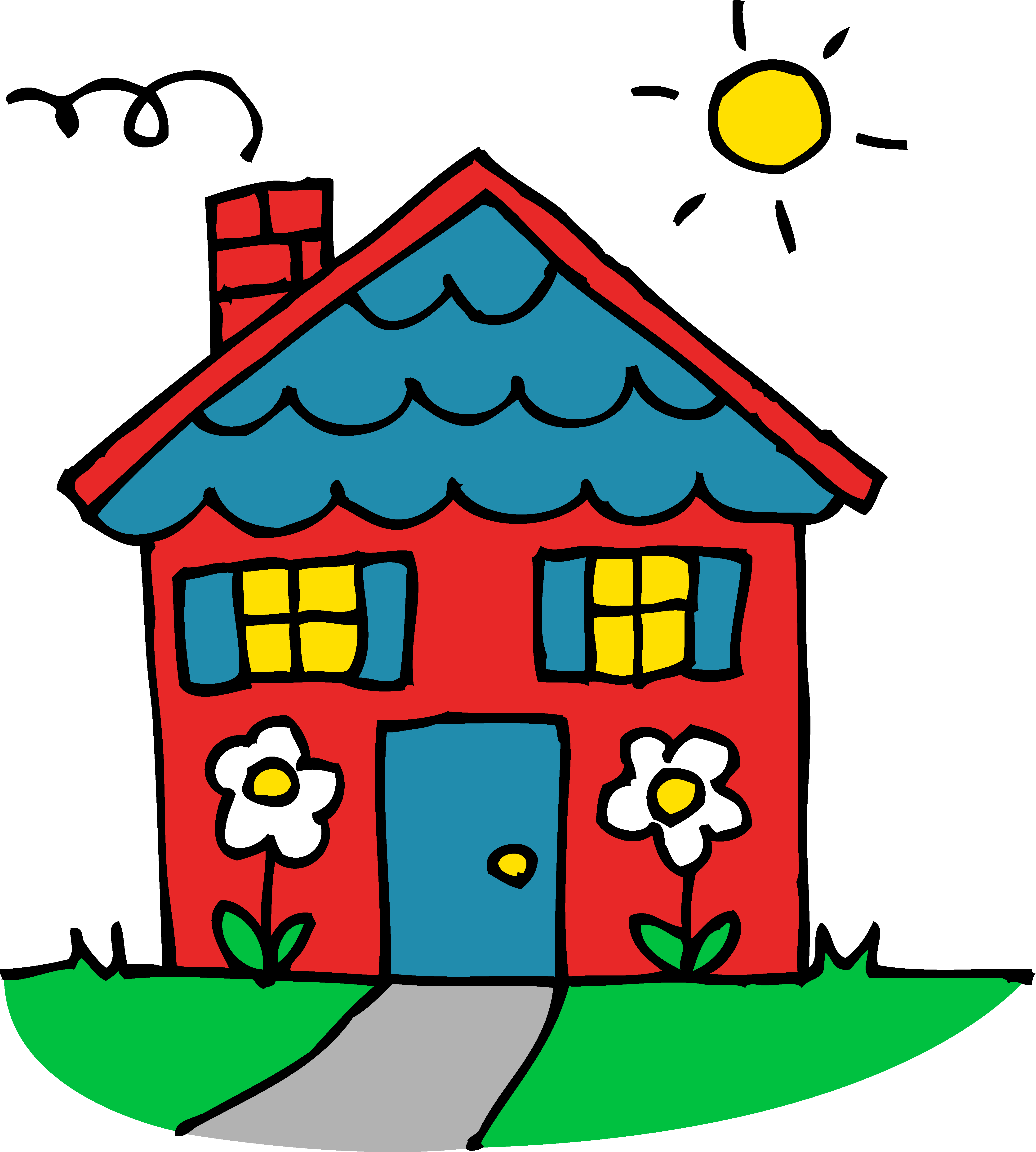 house for sale clip art - Clip Art Of A House