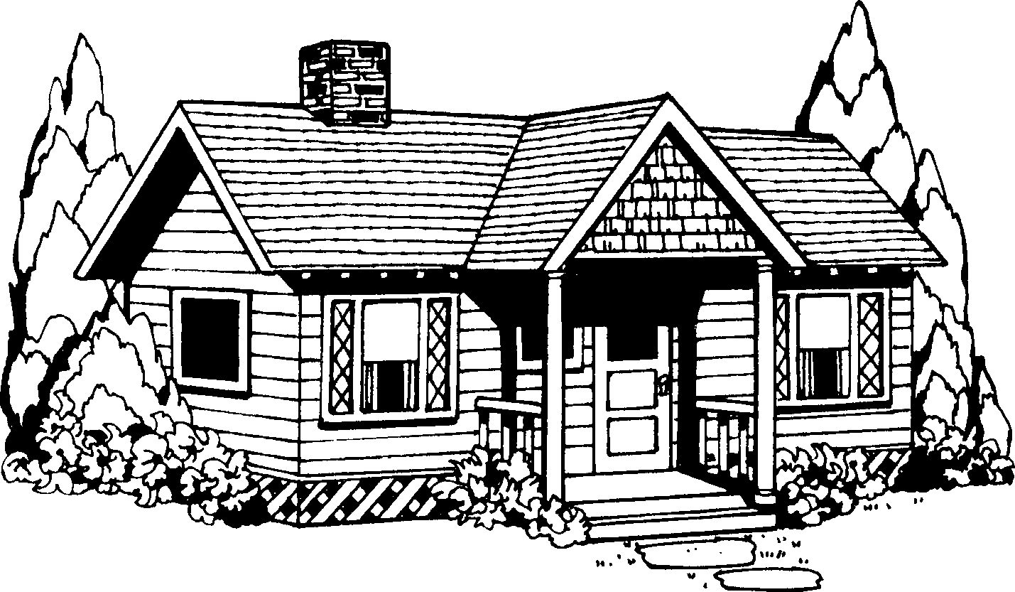 House black and white building .