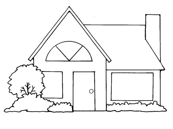 House Black And White House C - House Clipart Black And White