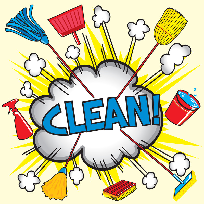 House Cleaning Chores In America-Great Old Time Cleaning Tips for. CLEANING CLIPART ...