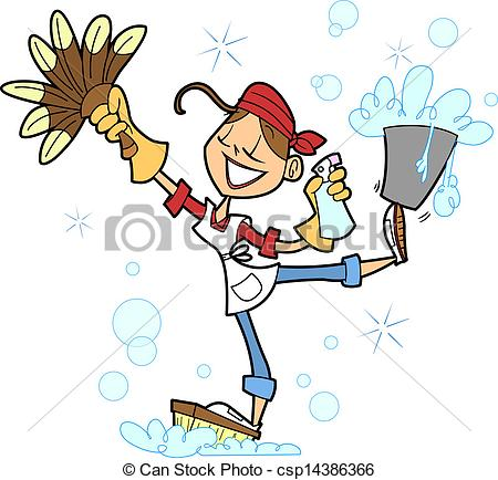 House Cleaning Vector Clipart