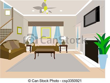 House Clip Art Living Room-House Clip Art Living Room-3