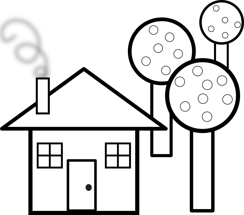78 Black And White House Clipart Clipartlook