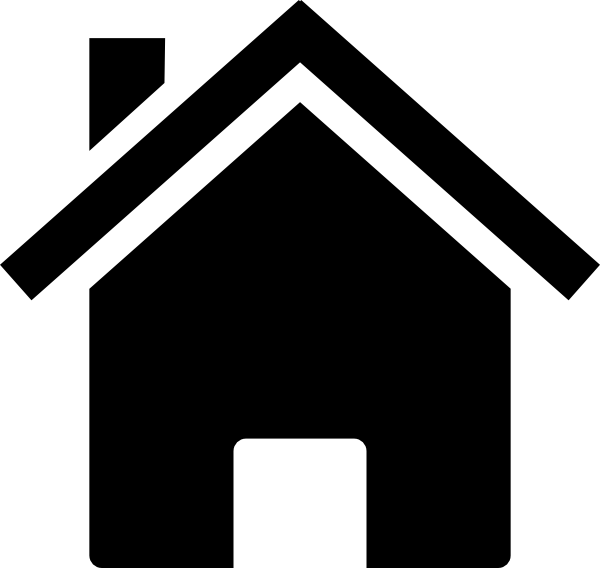 Simple Black House Clip Art at Clker clipartlook.com - vector clip art online, royalty  free u0026 public domain