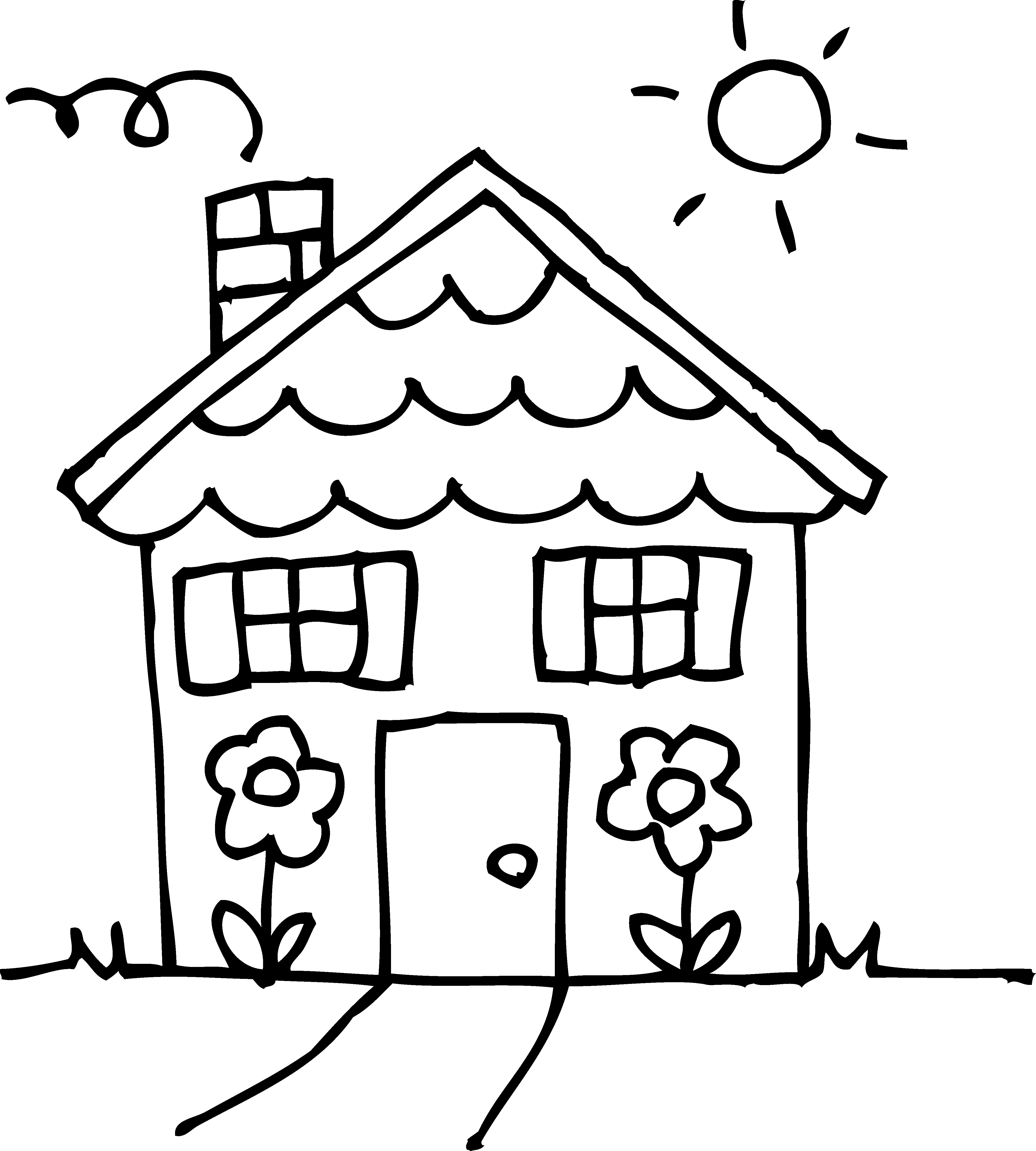 ... House Coloring Page Clipart ...-... house coloring page clipart ...-3