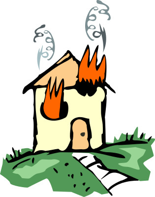 ... House Fire Clipart ...