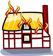 ... House Fire Clipart; Houses clip art Free Vector - Buildings Vectors | DeluxeVectors clipartall.com ...