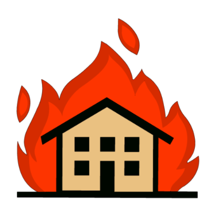 ... House On Fire Clipart ...