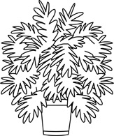 ... House With Bush Outline Clipart Blac-... House with bush outline clipart black and white ...-7