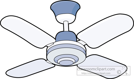 Household Ceiling Fan 1013 Cl - Fan Clip Art