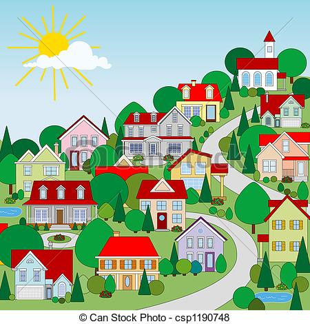 ... Houses - pastoral little town-... Houses - pastoral little town-15